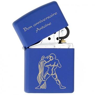 1-Zippo personnalisé Royal Blue matte