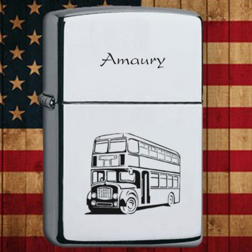 1-Zippo personnalisé Chrome High Polished