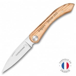 Couteau gravé Capucin Olivier