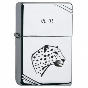 1-Zippo personnalisé Vintage Chrome High polished
