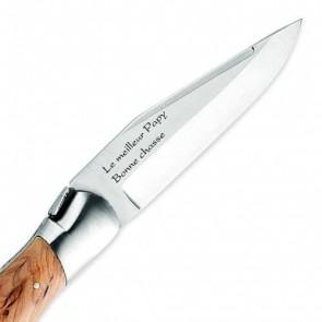 Couteau de chasse gravé Laguiole Arbalète genévrier 12cm