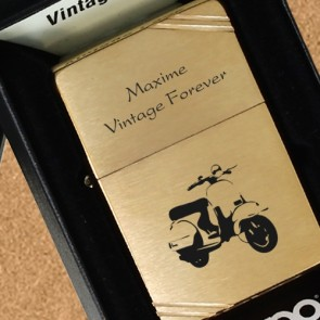 Zippo personnalisé Vintage Brass Brushed