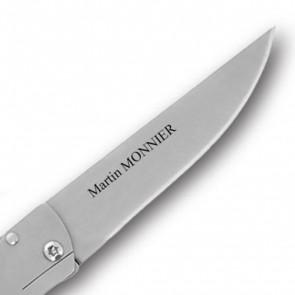 Couteau personnalisé Le Thiers Carbone Dozorme
