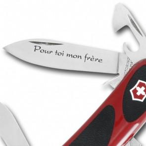 Couteau Suisse gravé Victorinox Evogrip Security