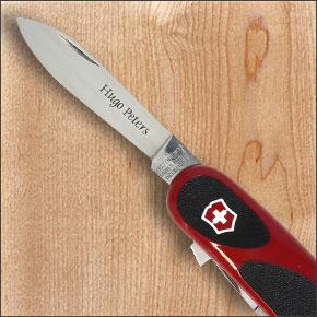 couteau victorinox gravé