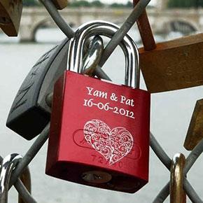 cadenas d'amour gravé