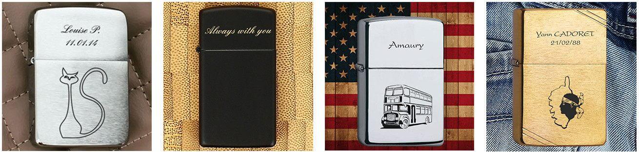Le vrai briquet zippo gravé : un cadeau personnalisé de marque
